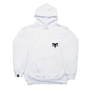1 Currency Heist Ram Hoodie White CHRHW Front V1