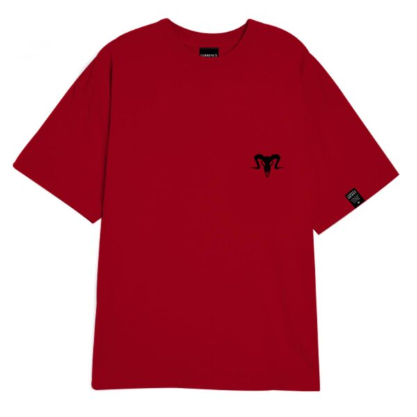 Currency Heist Ram T Shirt Red Black CHRTR Front