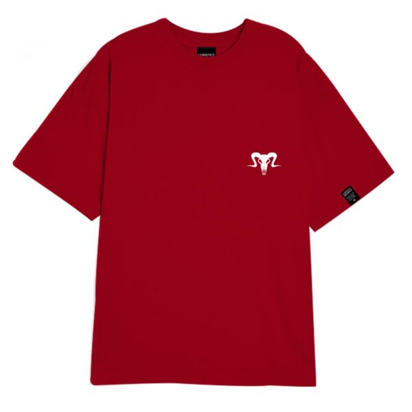 Currency Heist Ram T Shirt Red CHRTR Front