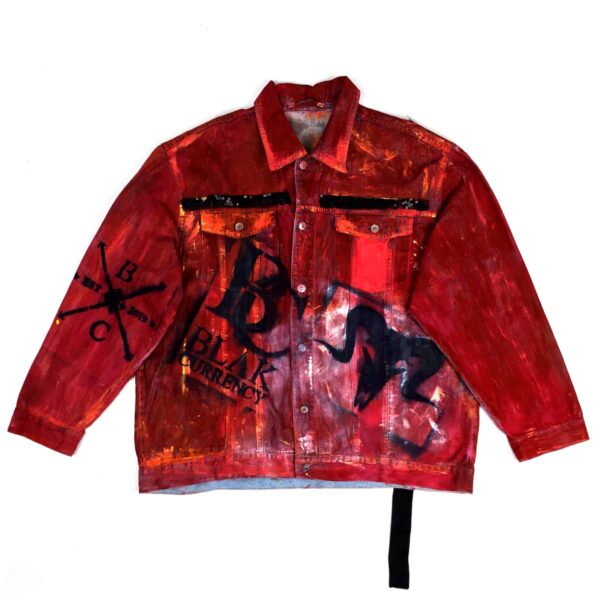 Rebel King Denim Jacket Red WDCAWWAR 1