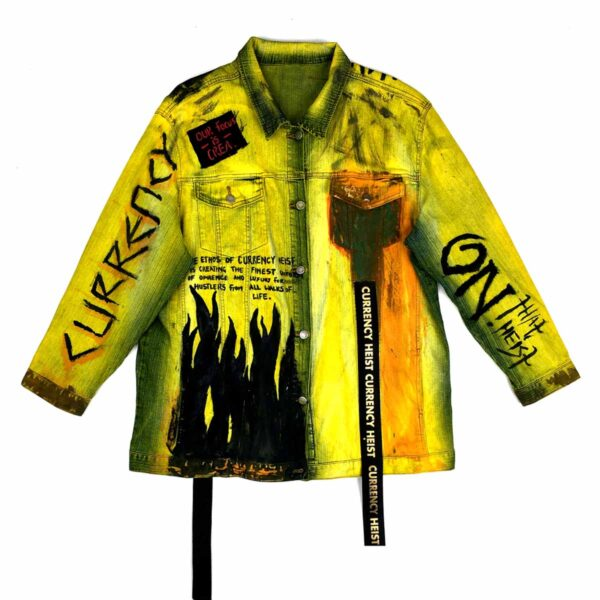 The Melanin Rebel Denim Jacket Yellow WDCAWWAY 1