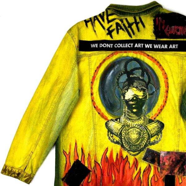 The Melanin Rebel Denim Jacket Yellow WDCAWWAY 9