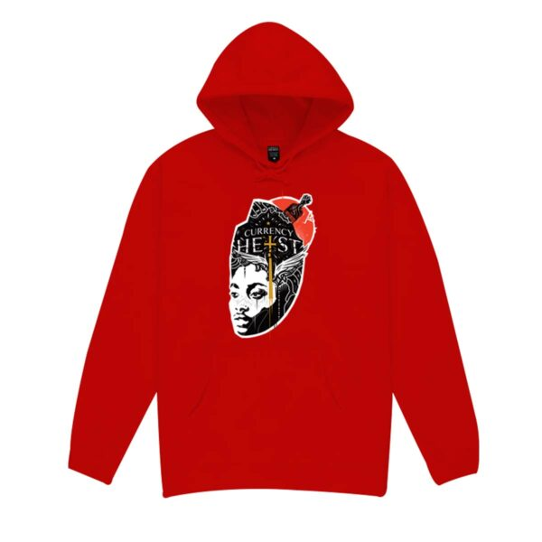 Currency-Heist-x-Creative-God-Hoodie-Red-CXCHR14-Front