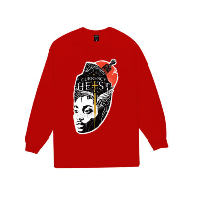 Currency-Heist-x-Creative-God-Sweater-Red-CXCSR17-Front