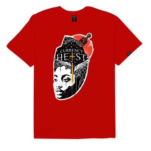 Currency-Heist-x-Creative-God-Tee-Red-CXCTR-Front