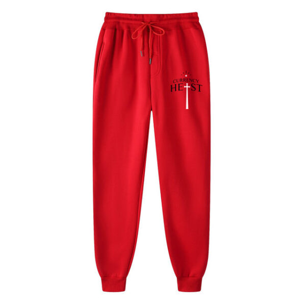 Currency-Heist-x-Creative-God-Trackpants-Red-CXCTPB18-Front